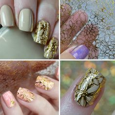 1 Sheet Embossed 3D Nail Stickers Blooming Flower 3D Nail Art Stickers Decals by WifeStore on Etsy