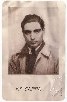 Robert Capa, carte de presse, 1937