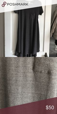 LulaRoe Carly Grey Charcoal XS NEW Brand new!! Closet clean out.  I needed a XXS. LuLaRoe Dresses High Low