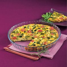 WeightWatchers.fr : recette Weight Watchers - Clafoutis de légumes du Sud