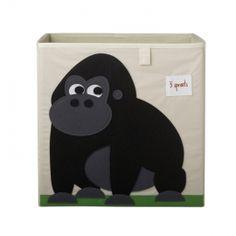 Opbergdoos - Gorilla (nieuw!) | Opbergen | Gras onder je voeten | storage box | 3 Sprouts | opbergbox, ikea, expedit
