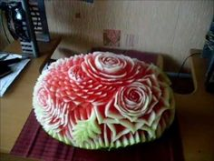 ▶ Watermelon carving time lapse - YouTube