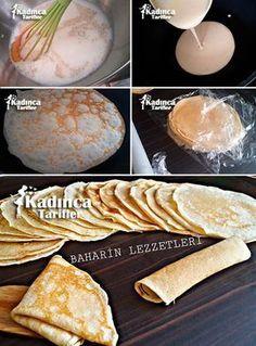 Krep Tarifi - Dondurucuda Krep Saklama Turkish Recipes, Ethnic Recipes, Bread And Pastries, Galette, Bread Baking, Food Photo, Cake Recipes, Breakfast Recipes, Food And Drink