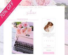 """Blog Web Design // Responsive Mobile Friendly Chic & Pretty """"Silver"""" Blog WordPress Theme"""