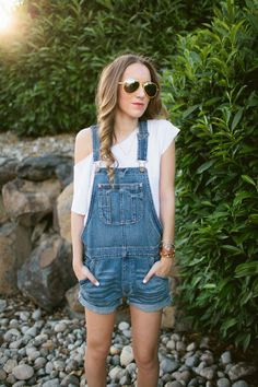 Short overalls for those long summer days.