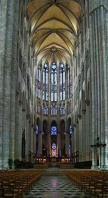 13th C. Beauvais Cathedral (Cathédrale Notre-Dame) in Beauvais, France by Enguerrand Le Riche and Martin Chambiges - Medieval masonry experiment  with increasing height of vault at 157.5'