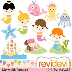 mermaids clip art | Free Mermaid Clipart For Kids » Dondrup.com ...