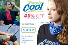 40% OFF Simply Cool Products - On Sale Now Through Saturday 9/23.  #staycool #keepcool #bandana #scarf #kneewraps