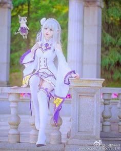 @xiaorouseeu [China] as Emilia [Re:Zero Kara Hajimeru Isekai Seikatsu/Relife in a Different World from Zero/Re:Zero Starting Another Life in a Different World]