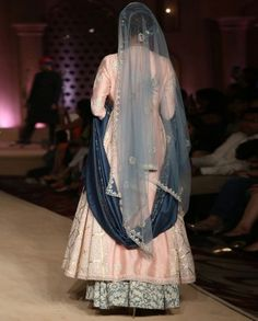 Bajirao Mastani Blue Printed Lengha Anju Modi Collection
