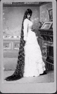 Victorian very long hair