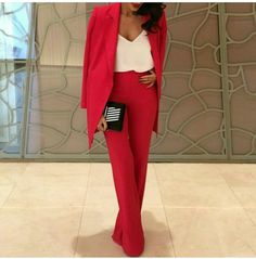 hot pink with white top. the white top just balances the colour and don't make it too bright.