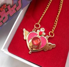 New Sailor Moon Wing Crown Crystals Gold Plated Pendant Necklace Free Shipping #Unbranded #Pendant