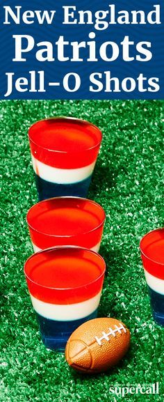The New England Patriots are a divisive team—you either love them and sport their gear wherever you go, or you hate them and drop references to the Deflategate scandal whenever possible. But regardless of your team affiliations, this red, white and blue stunner of a Jello Shot is sure to satisfy.