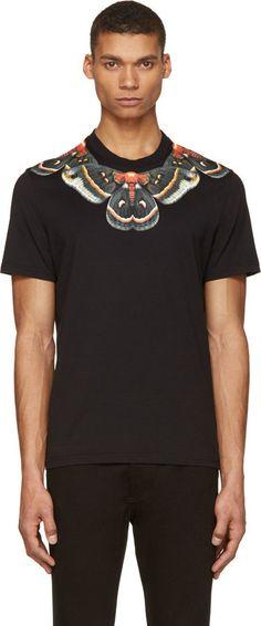 Givenchy Black & Orange Moth Print T-Shirt on shopstyle.com
