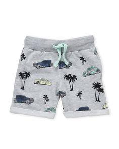 Sovereign Code (Boys 4-7) Car Print Knit Shorts