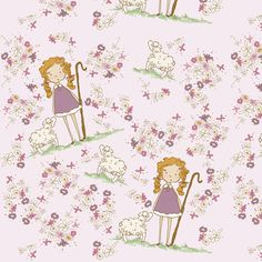 Plum Bo Peep fabric by pocketful_of_pinwheels on Spoonflower - custom fabric