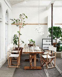 A nature inspired interior. #decor