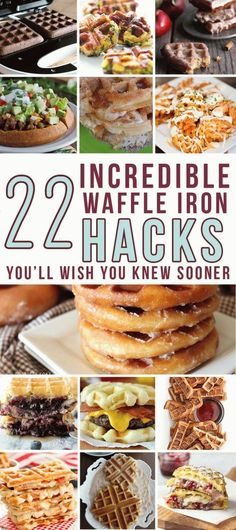 These delicious waffle hacks will have you digging out your waffle maker today! … These delicious waffle hacks will have you digging out your waffle maker today! …,diy-und-selbermachen These delicious waffle hacks will have. Sandwich Maker Recipes, Breakfast Sandwich Maker, Waffle Maker Recipes, Waffle Toppings, Breakfast Recipes, Waffle Bowl Maker, Belgian Waffle Maker, Belgian Waffles, Breakfast Ideas