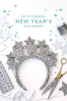 New Year's Eve star crown - The House That Lars Built Christmas Drama, Christmas And New Year, Christmas Diy, Fun Arts And Crafts, Diy Crafts, Nativity Star, Star Costume, Grown Up Parties, Star Diy