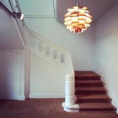 The PH Artichoke Pendant Light was designed in 1958 by Poul Henningsen for the Langelinie Pavillonen restaurant in Copenhagen, where it still hangs today. http://www.ylighting.com/louis-poulsen-ph-artichoke-pendant-light.html