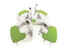 Office, Awesome Green Office Work desk – Beta Workplace System by Pierandrei Associati for Tecno: Installation green office work desk beta w. Bureau Design, Logic Design, Work System, Green Office, Work Desk, Furniture Design, Office Furniture, Design History, Desks