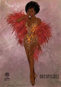 Costume Renderings Page 7 - Broadway Design Exchange Black Girl Art, Black Girl Magic, Art Girl, Fashion Art, Fashion Beauty, Fashion Drawings, Fashion Illustrations, Fashion Outfits, Fashion Design