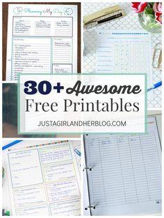 30 Awesome Free Printables | JustAGirlAndHerBlog.com