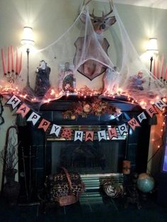 halloween mantel | My Halloween Mantel!