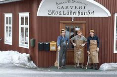 Tannery workers at Böle Tannery, Sweden. The Last remaining spruce bark vegetable tannery in the world. Read our interview with Anders Sandlund, fourth-generation owner of Böle.  http://www.merchantandmakers.com/bole-tannery-swedish-vegetable-tanned-leather/