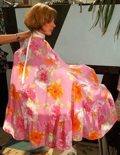 Pink floral cape .... love it