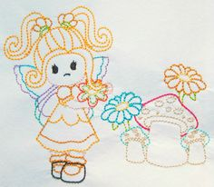Color work Pixie girl machine embroidery by CocobeanBoutique, $3.50 Embroidery Applique, Machine Embroidery, Applique Designs, All Design, Pixie, I Shop, Patches, Snoopy, Artwork