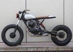 Flip side of the @seanspeedshop #TW200 #scrambler, featured today on BikeBound.com!