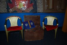 Castle role play - spray paint cheap garden chairs as thrones!