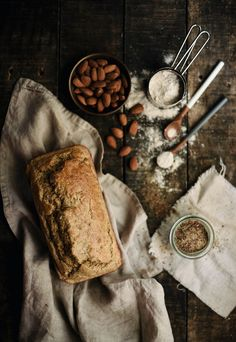 Almond Flax Loaf from The Good Kitchen Prop Styling, Food Pictures, Cool Kitchens, Almond, Food Photography, Good Food, Gifs, Autumn, Dining