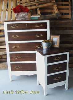 Two Toned Dresser. Rich color, antique, classic style...