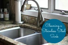 To Clean A Stainless Steel Sink And Make It Look Brand New...http://homestead-and-survival.com/to-clean-a-stainless-steel-sink-and-make-it-look-brand-new/