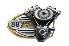 "Harley Davidson 1999 88"" Engine Belt Buckle Collectible Gift (NEW)"
