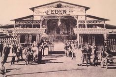 Cinema Eden, 1930, rimaneggiato nel 1933 e 1964, progettato da Alfredo Belluomini o da Mario Morandi (non chiaro), stile tardo-liberty.