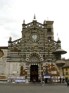 Main facade, Cathedral of Prato, Italy, province if Prato Tuscany