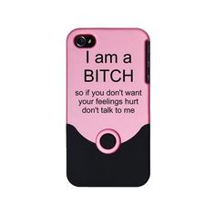 I am a BITCH iPhone Case ($9.97) ❤ liked on Polyvore featuring accessories, tech accessories, iphone, iphone cases, phone cases, phones, iphone cover case, apple iphone cases and iphone sleeve case