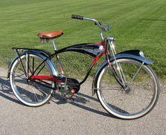 Jim's Collection of Vintage balloon tire bicycles Old Bicycle, Cruiser Bicycle, Old Bikes, Bicicletas Raleigh, Motorised Bike, Lowrider Bike, Mini Bike, Bicycle Design, Vintage Bicycles