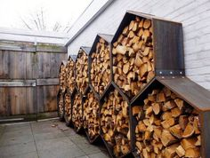 Exceptional Octagon Outdoor Firewood Storage For Behind The Garage (Outdoor Wood  Basements)