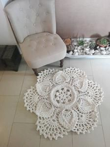 Crochet rug Boho style rug Shabby chic rug Handmade rug Small rug Round rug , – Newest Rug Collections Shabby Chic Lamps, Floor Pouf, Round Rugs, Grey Rugs, Cool Rugs, Small Rugs, Boho Style, Boho Chic, Handmade Rugs