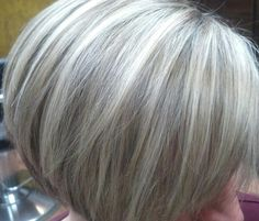 Pix For > Gray Hair Highlights Lowlights