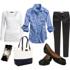 """""""Black & Blue"""" by carchaney on Polyvore"""
