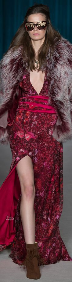 Matthew Williamson Fall Winter 2015-16 RTW jewel tone dress #UNIQUE_WOMENS_FASHION