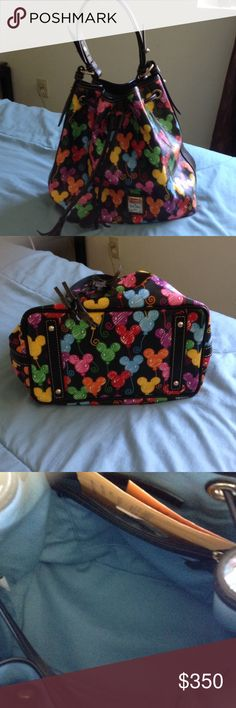 Disney Dooney and Bourke Handbag Disney Dooney and Bourke Balloons handbag . Excellent condition.  This bag is NWOT .Bought it at a second hand shop . This is handbag is rare . This handbag make a great piece for a collector. Dooney & Bourke Bags Totes