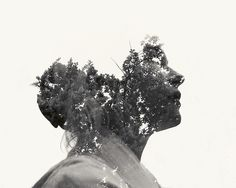 These amazing multiple exposure portraits are created by a Finnish graphic designer and photographer named Christoffer Relander. In photography, a multiple exposure is the superimposition of two or more individual exposures to create a single photograph. Portraits En Double Exposition, Exposition Multiple, Exposition Photo, Multiple Exposure Photography, Tutorial Photoshop, Illustration Photo, Illustrations, Photocollage, Double Exposure