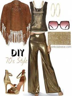 45 ideas fashion disco costume style - Fashion Show Studio 54 Fashion, 70s Fashion, Party Fashion, 1970s Disco Fashion, Hippie Fashion, Fashion Ideas, Look Disco, Disco 70s, 70s Disco Outfit